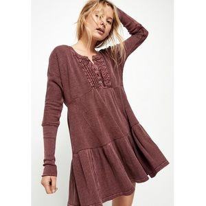free people jolene long sleeve thermal dress